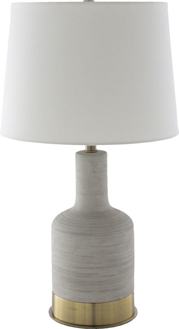 Albie Drive Gray Lamp