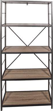 Alcott Gray Bookcase