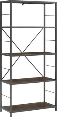 Alcott Walnut Bookcase