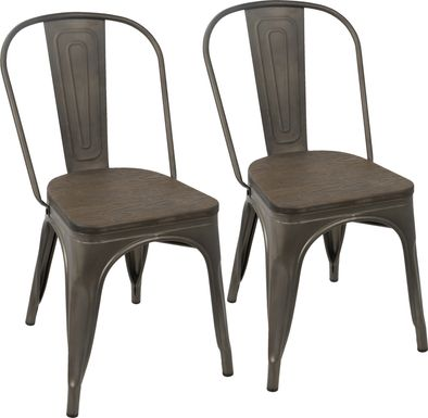 Aldersyde Espresso Dining Chair (Set of 2)