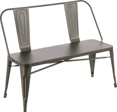 Aldersyde Gray Accent Bench