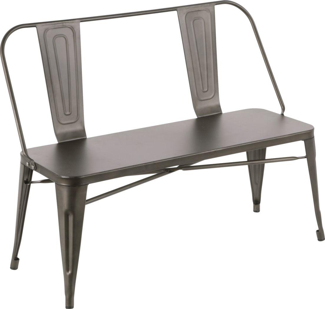 Aldersyde Gray Accent Bench