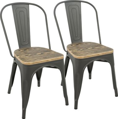 Aldersyde Gray Dining Chair (Set of 2)
