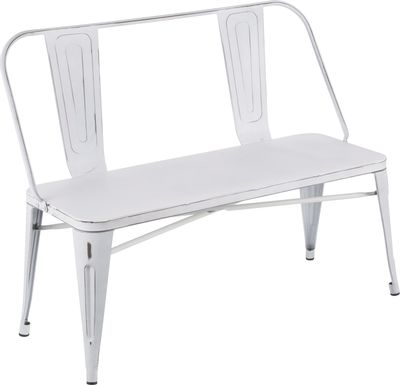 Aldersyde White Accent Bench