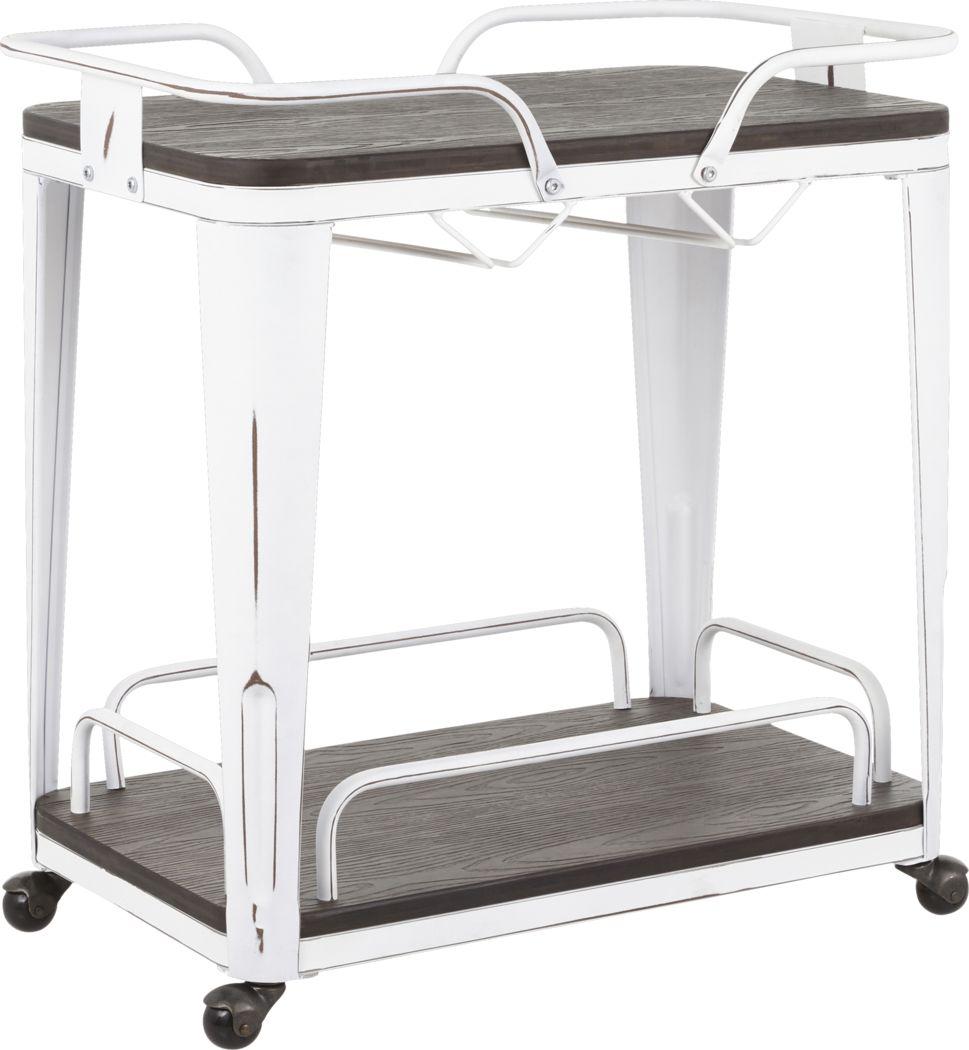 Aldersyde White Bar Cart