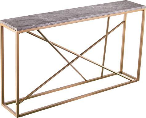 Alderton Gold Console Table