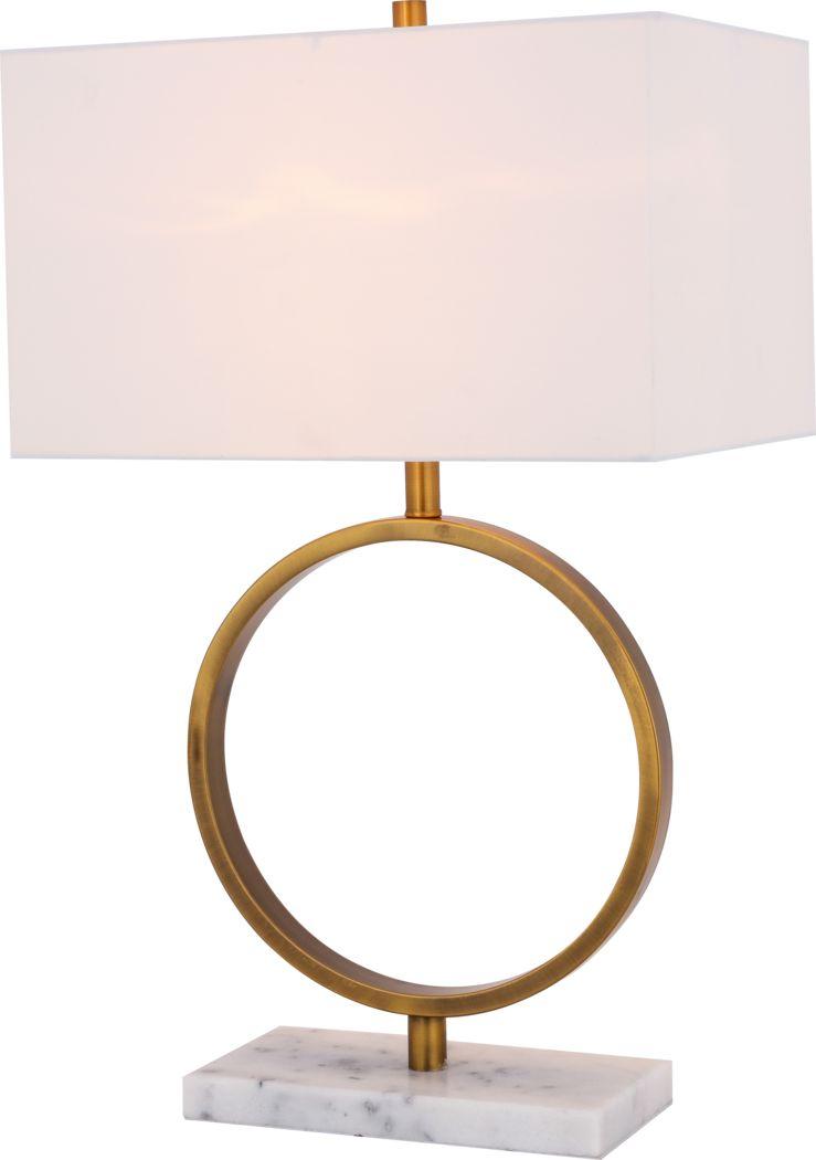 Aldo Circle Gold Lamp