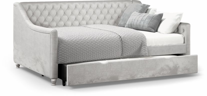 Alena Silver 4 Pc Twin Daybed with Twin Storage Trundle