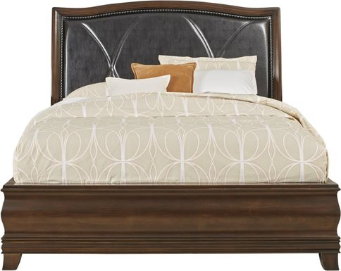 Alexi Cherry 3 Pc Queen Bed with Chocolate Inset