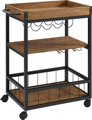 Alika Brown Bar Cart