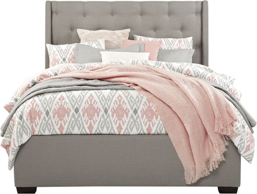 Alison Gray 3 Pc Queen Upholstered Bed