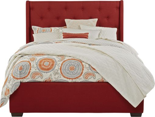 Alison Red 3 Pc King Upholstered Bed