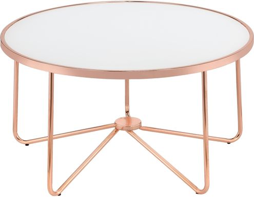 Alivia White Cocktail Table