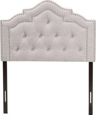 Allamar Gray Twin Upholstered Headboard
