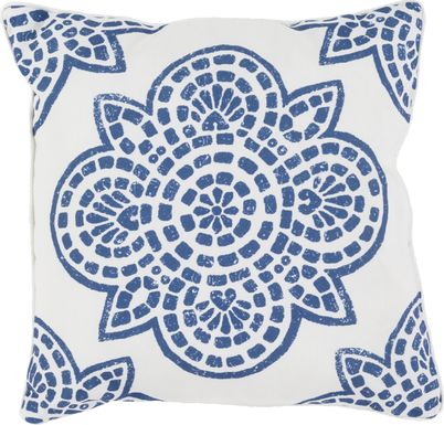 Allanna Navy Indoor/Outdoor Accent Pillow