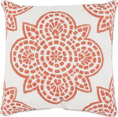 Allanna Orange Indoor/Outdoor Accent Pillow