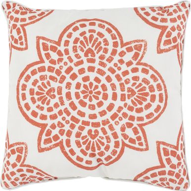 Allanna Orange Indoor/Outdoor Accent Pillow