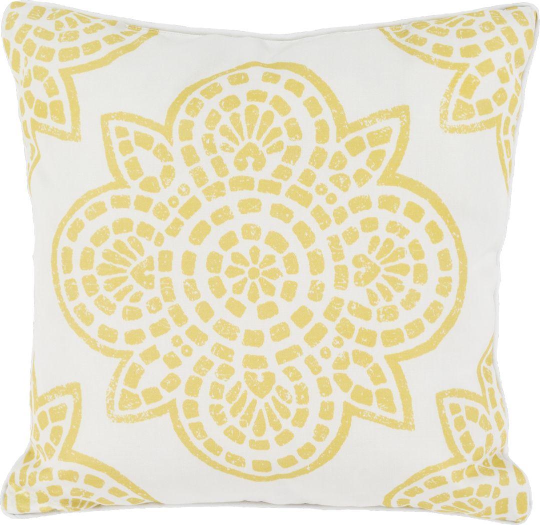 Allanna Yellow Indoor/Outdoor Accent Pillow