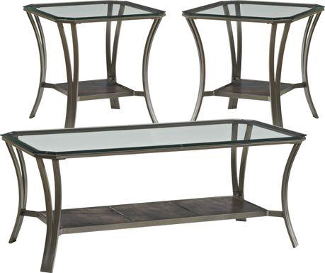 Allie Metal 3 Pc Table Set