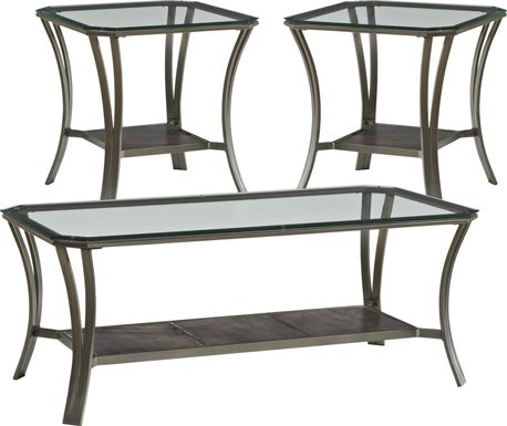 Allie Metal 3 Pc Table Set