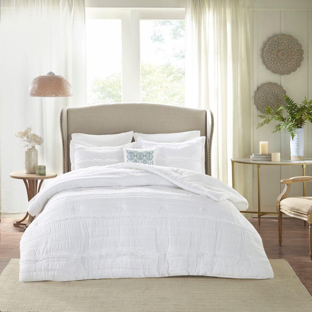 Allinda White 5 Pc King Comforter Set