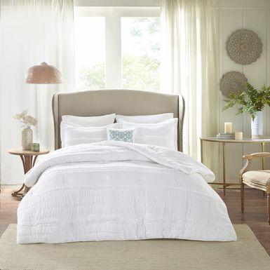 Allinda White 5 Pc Queen Comforter Set