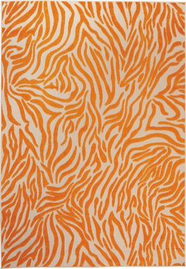 Almarie Orange 8' x 11' Indoor/Outdoor Rug
