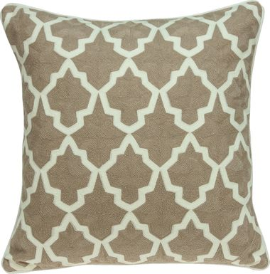 Aloin Beige Accent Pillow