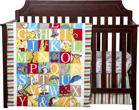 Alphabet Seuss Red 3 Pc Baby Bedding Set
