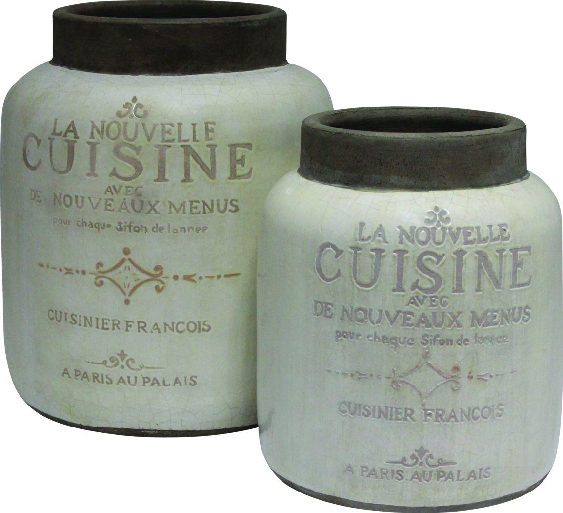 Alphie White Jar Set of 2