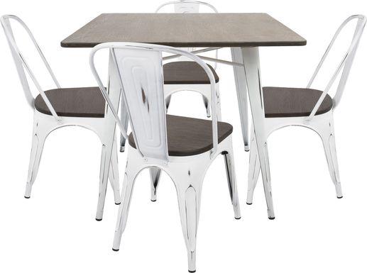 Aldersyde White 3 Pc Square Dining Set