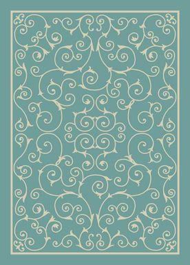 Althera Light Blue 8' x 11' Indoor/Outdoor Rug