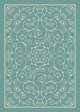 Althera Light Blue 8' x 11' Indoor/Outdoor Rug
