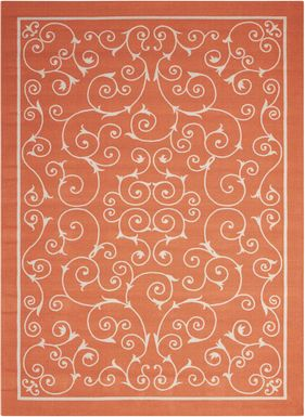 Althera Orange 8' x 11' Indoor/Outdoor Rug