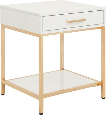 Altrissa White End Table