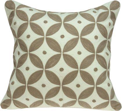 Aluino Beige Accent Pillow