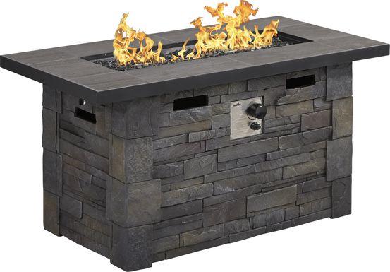 Alvarado Dark Gray Outdoor Fire Pit