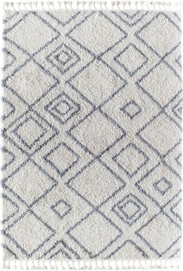 CosmoLiving By Cosmopolitan Alwina White 8' x 10' Rug