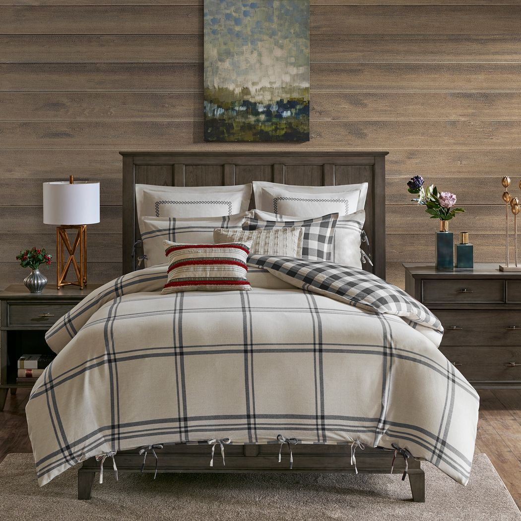Amany Gray 8 Pc Queen Comforter Set