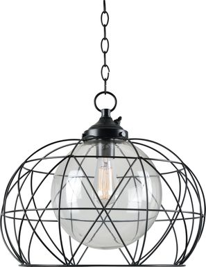 Amapola Black Outdoor Chandelier