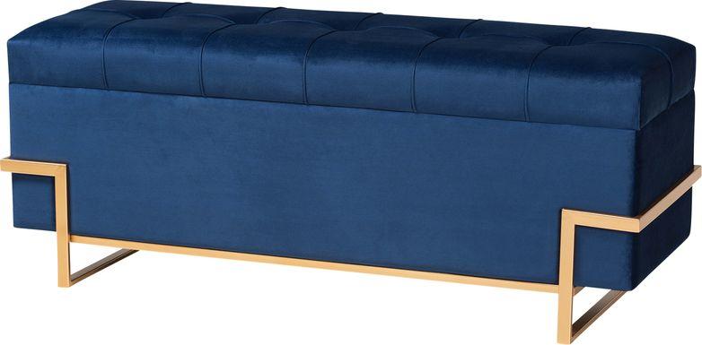 Amaral Blue Accent Ottoman
