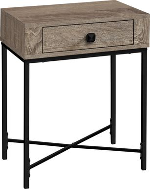 Amberglade Taupe Accent Table