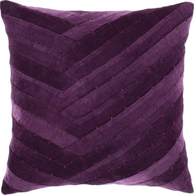 Amiena I Dark Purple Accent Pillow