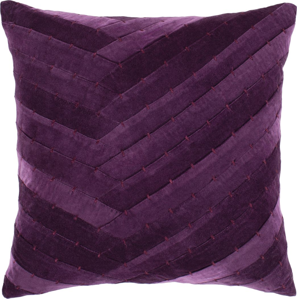 Amiena I Dark Purple Accent Pillow
