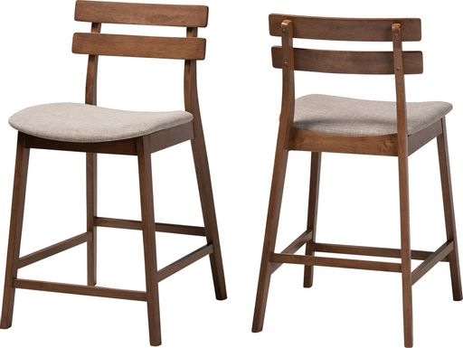 Ammerse Light Gray Counter Stool, Set of 2