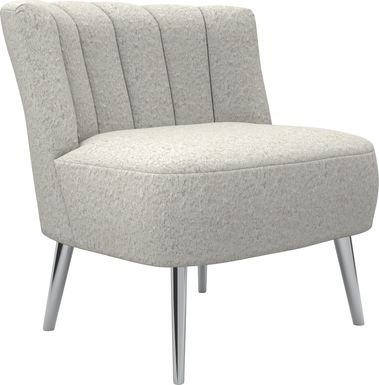 Amwiler White Accent Chair