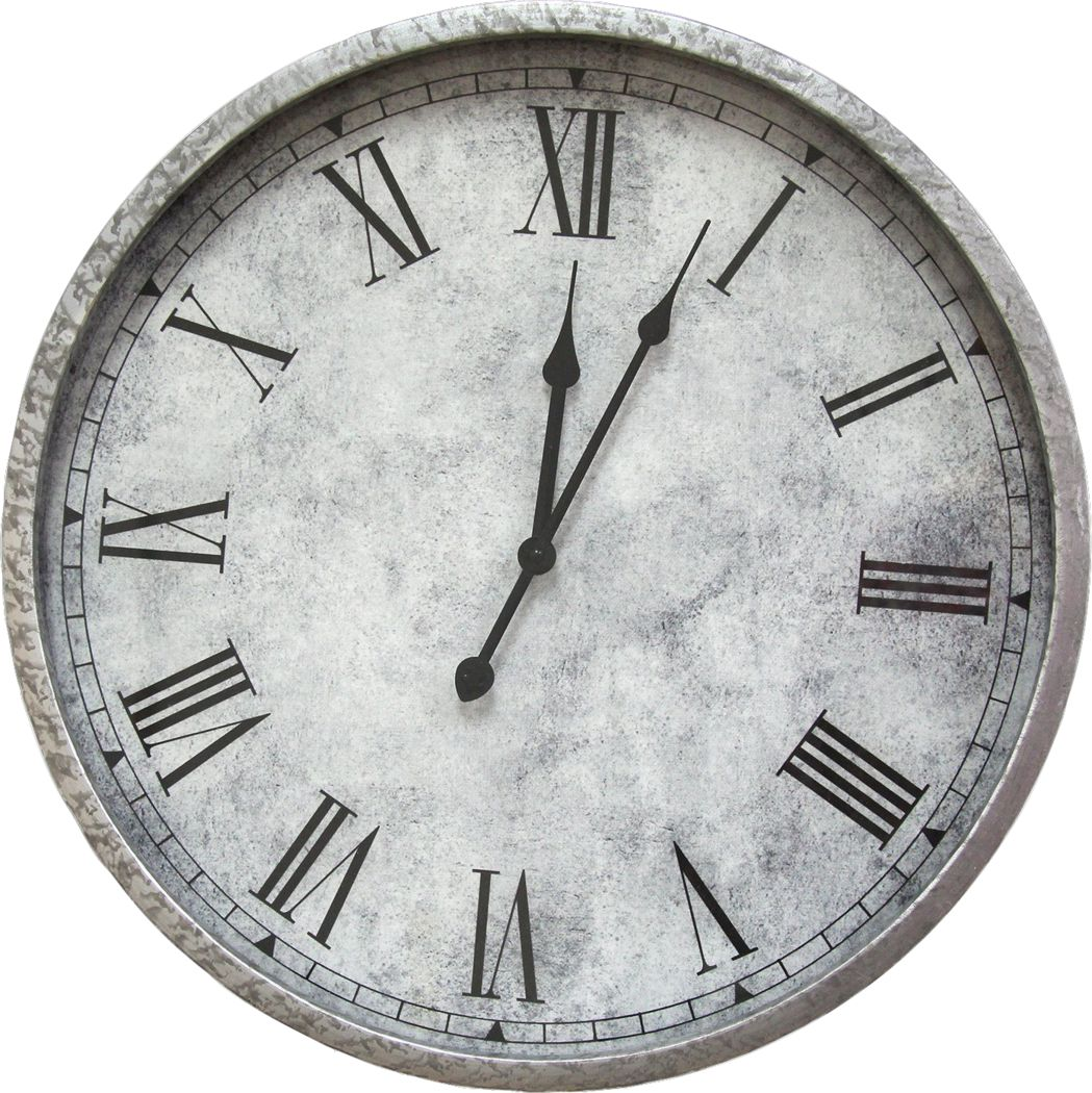 Anastasas Gray Wall Clock