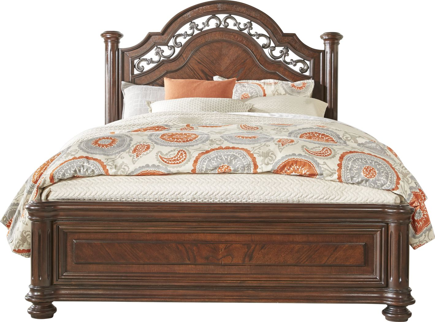 Anastasia Brown 3 Pc King Panel Bed