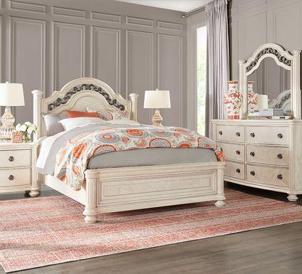 Anastasia White 5 Pc King Panel Bedroom