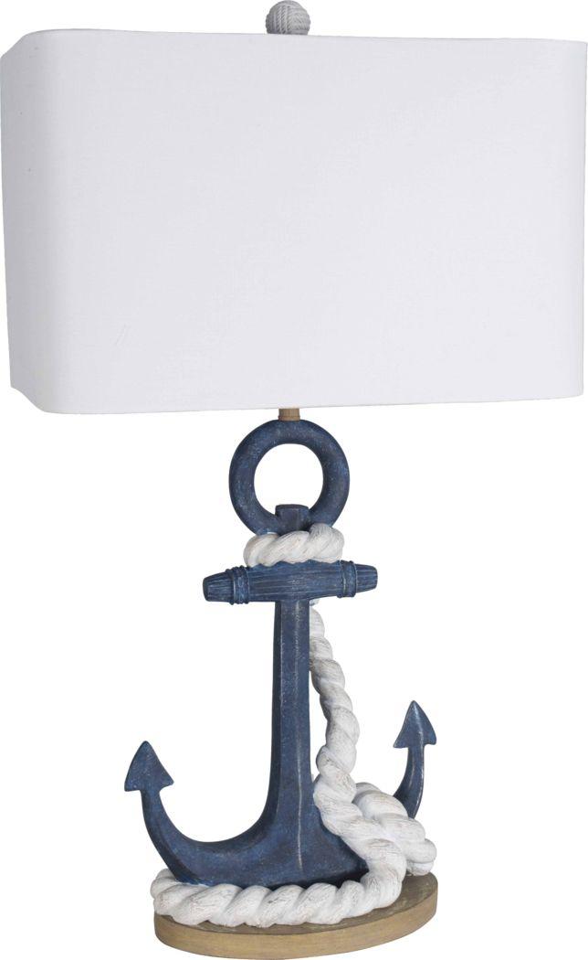Anchor Landing Blue Lamp